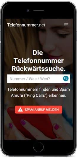 Mit dem Smartphone: Telefonnummer Rückwärtssuche: Telefonbuch für Deutschland