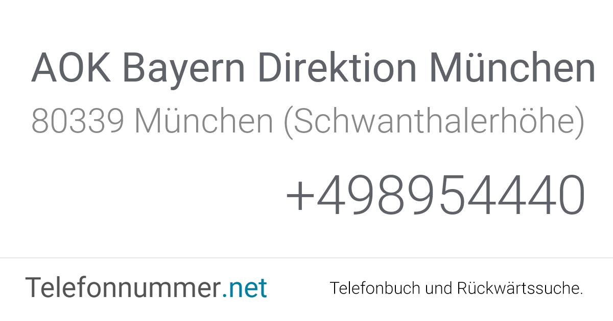 Aok München Adresse