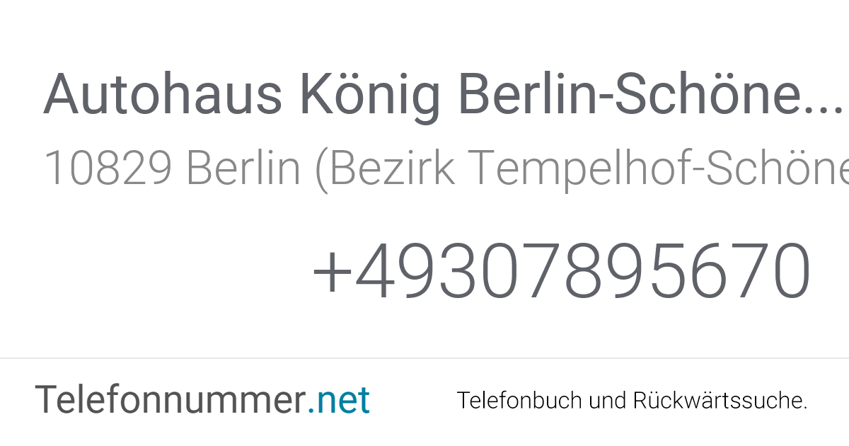 König Renault Berlin
