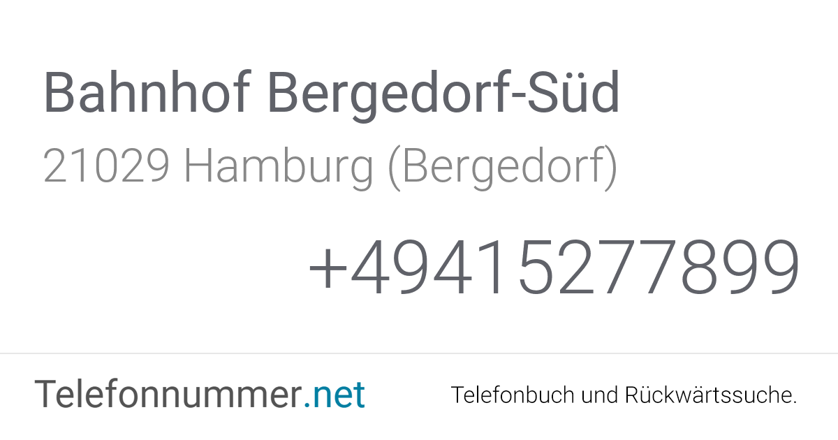 Neuer Weg Bergedorf