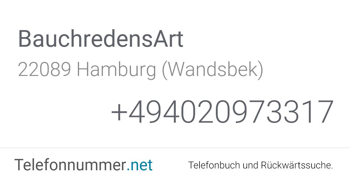 BauchredensArt Hamburg (Wandsbek), Papenstraße 122