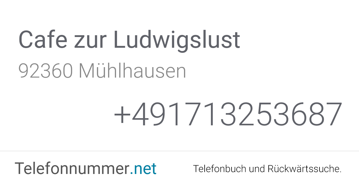 Cafe Zur Ludwigslust