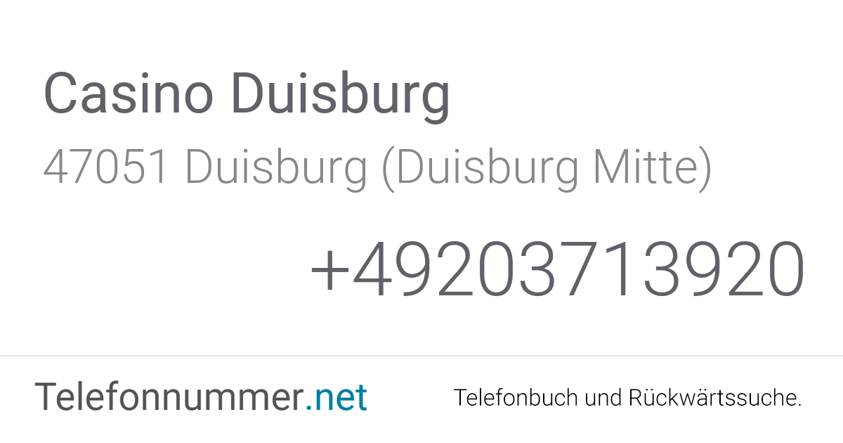 Casino Duisburg Adresse