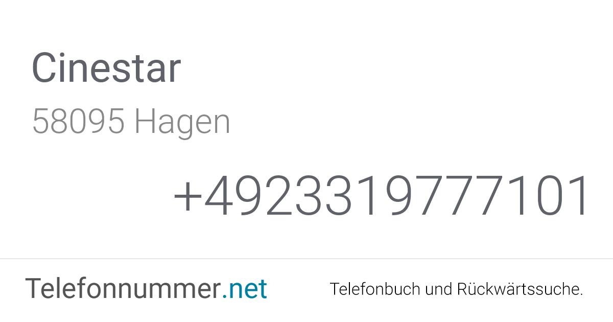 Cinestar Hagen Telefon