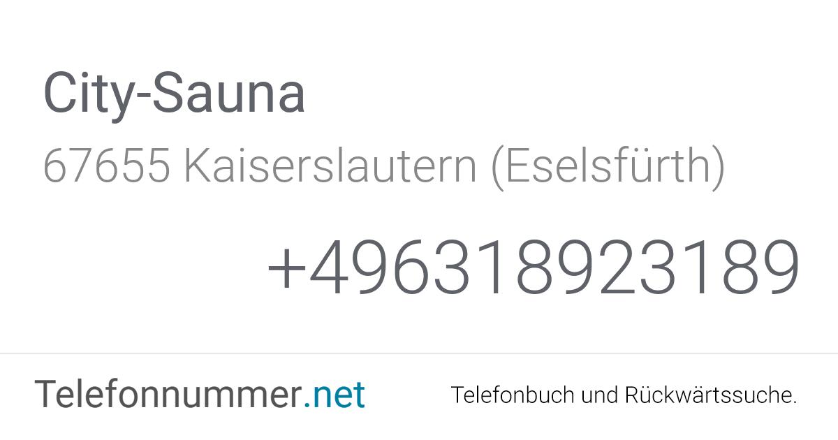 City-Sauna Kaiserslautern (Eselsfürth), Glockenstraße 66