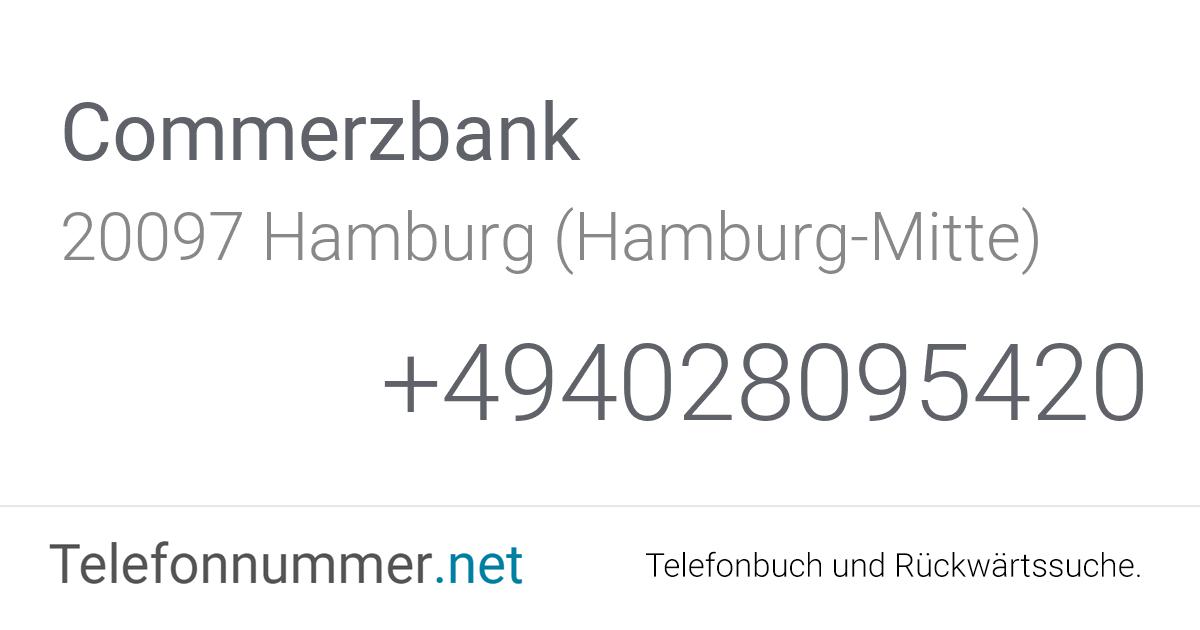 Commerzbank Hamburg Adresse