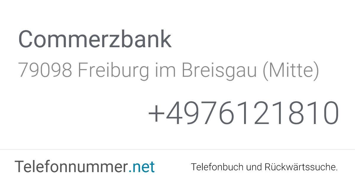 Commerzbank Freiburg Im Breisgau