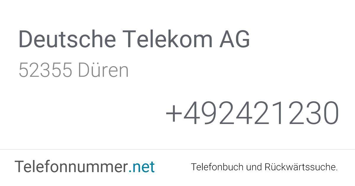 Telekom De Telefonnummer