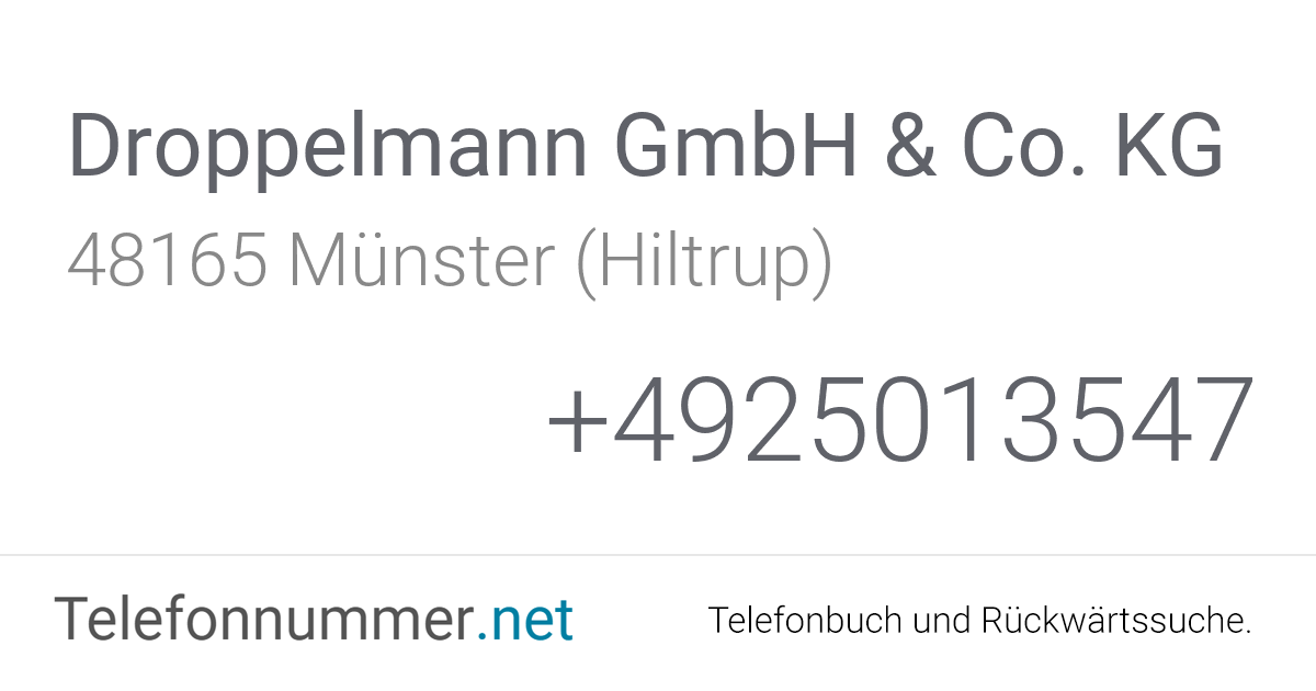 Droppelmann Münster