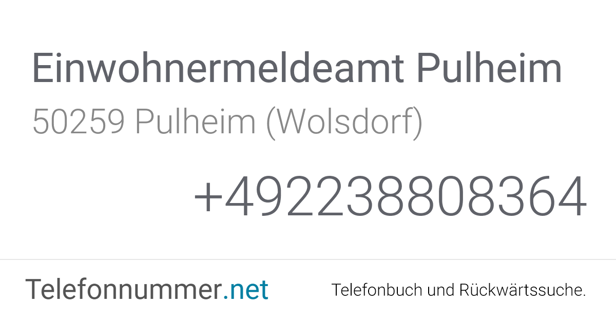 Einwohnermeldeamt Köln Ehrenfeld