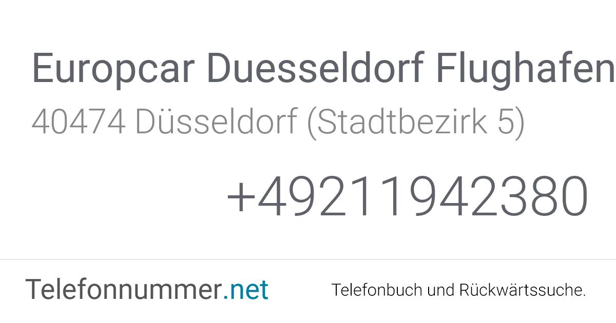 Europcar Duesseldorf Flughafen Düsseldorf (Stadtbezirk 5 ...