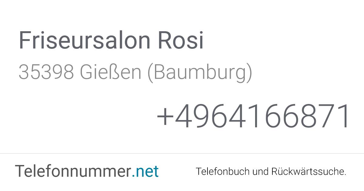 Telefonnummer Rosi