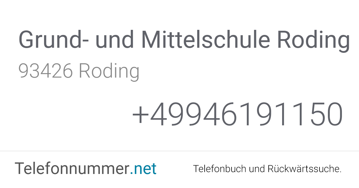 Telefonbuch Roding