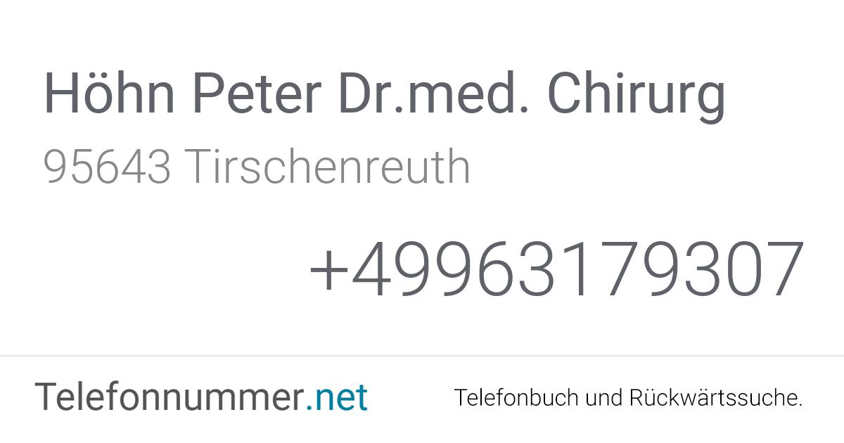 Dr Höhn Tirschenreuth