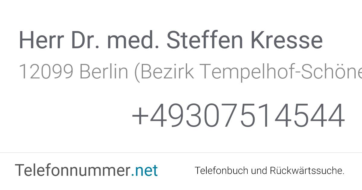 Dr Kresse Berlin