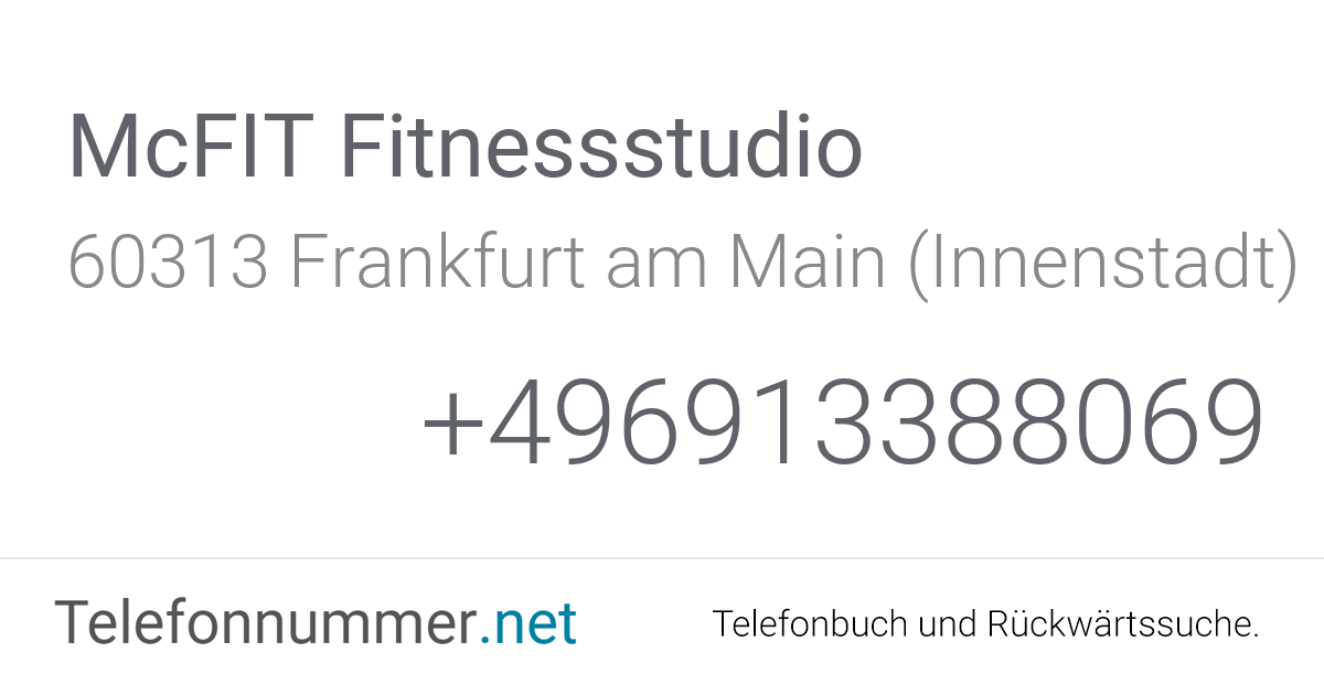 Zeil Frankfurt Adresse