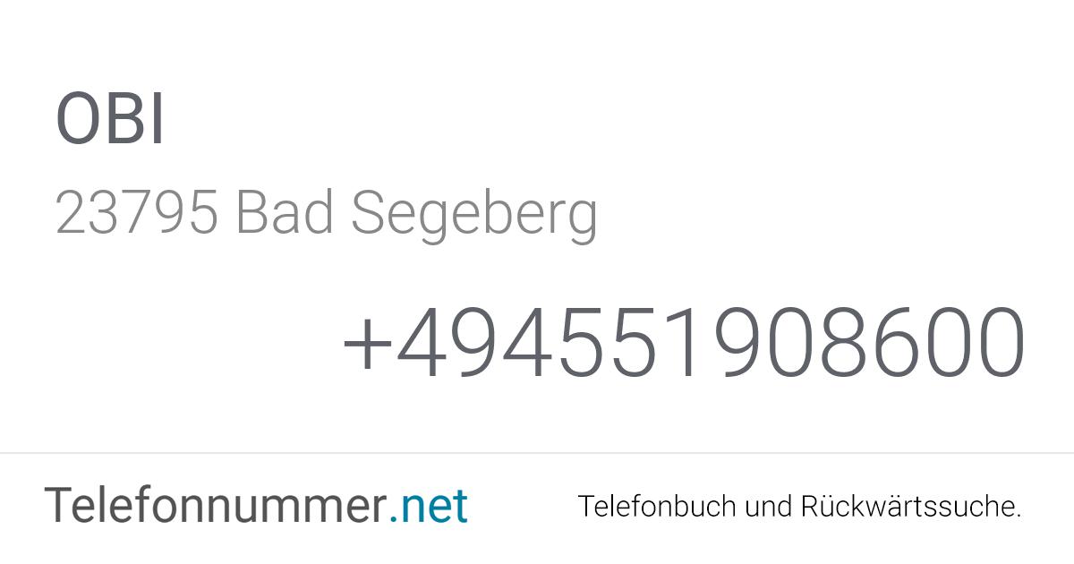 Obi Bad Segeberg