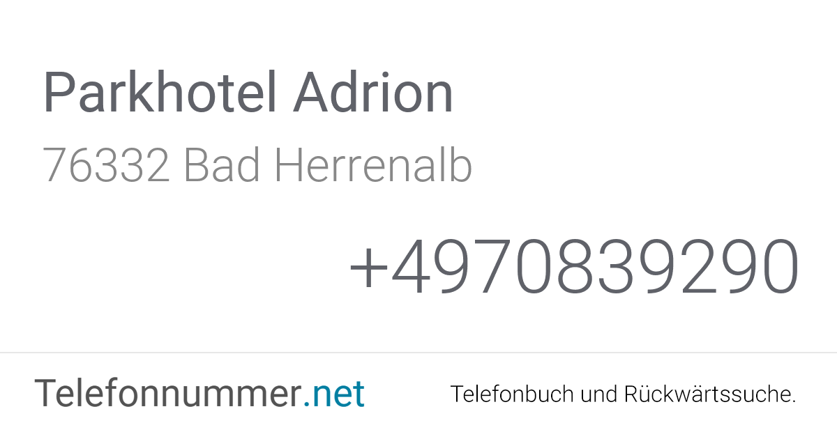 Telefonbuch Bad Herrenalb