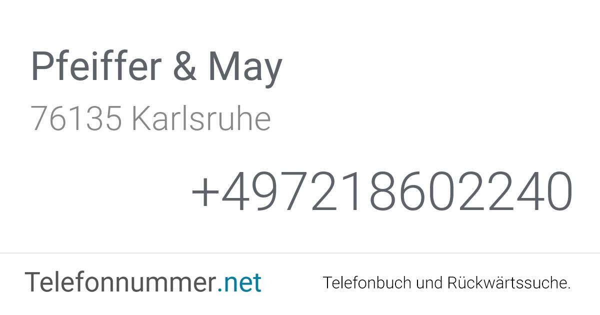 Pfeiffer & May Karlsruhe