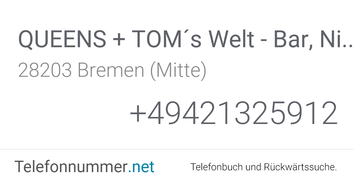 QUEENS + TOM´s Welt - Bar, Nightclub, Tabledance Bremen
