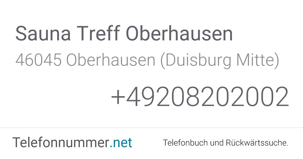 Sauna Treff Oberhausen Oberhausen (Duisburg Mitte