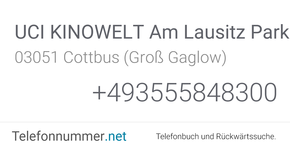 Uci Kinowelt Cottbus