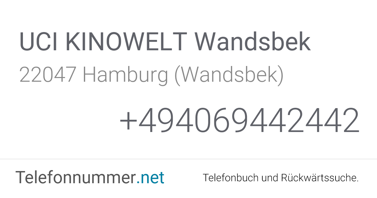 Uci Wandsbek Telefon