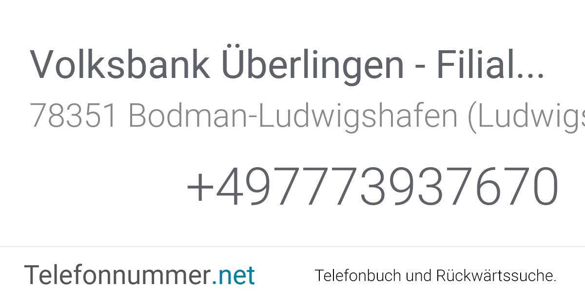 Volksbank Bodman Ludwigshafen