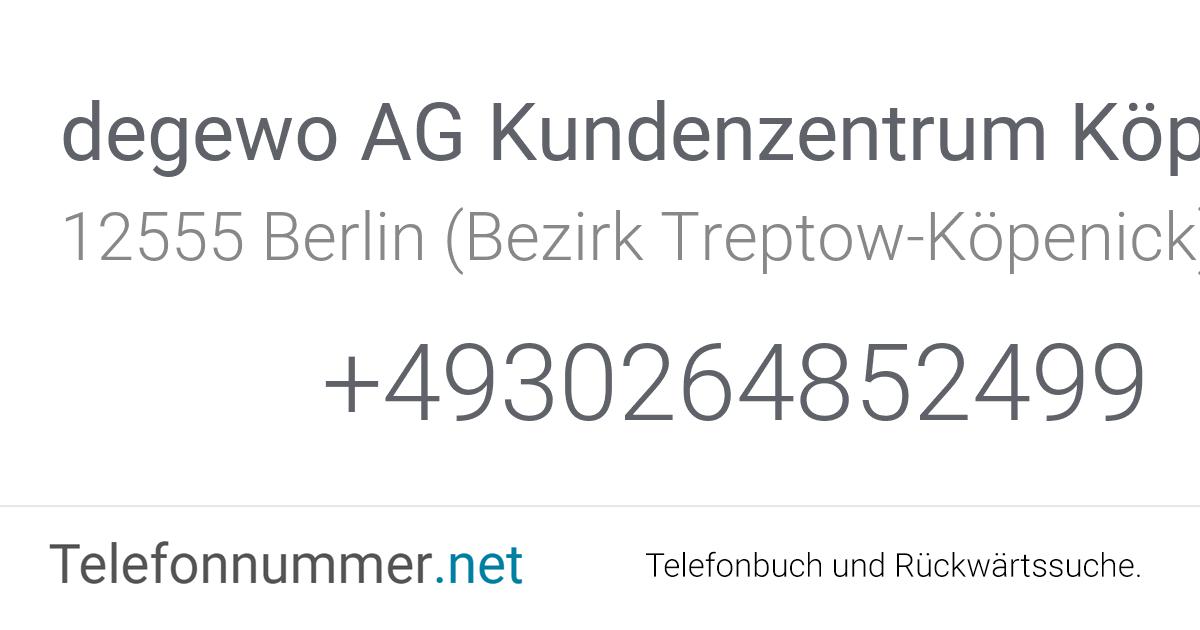 Degewo Telefonnummer